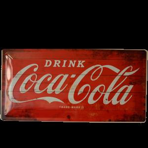 Cartel Publicitario Coca Cola Rojo