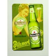 Cartel  Metálico Cerveza Heineken