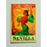 Cartel  Metálico Feria de Abril de Sevilla 1954