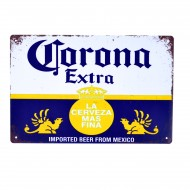 Cartel Metálico de Corona