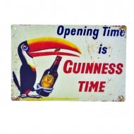 Cartel Metálico de Guinness Time
