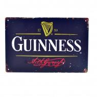 Cartel Metálico de Guinness negro