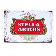 Cartel Metálico de Stella Artois Logo