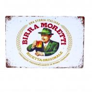 Cartel Metálico de Birra Motretti