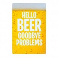 Cartel Metálico de Hello Beer