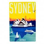 Cartel Metálico de Sydney