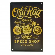 Cartel Metálico de Oily Rag Motor Co