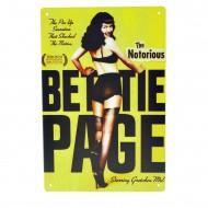 Cartel Metálico de The Notorius Bettie Page