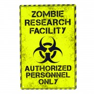 Cartel Metálico de Zombie Research Facility