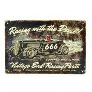 Cartel Metálico de Racing with the devil