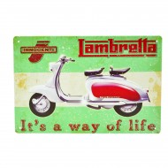 Cartel Metálico de Lambretta, its a way of life