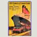 Cartel Metálico de EMS Express & Cunard Liner