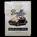 Chapa Metálica Volkswagen Beetle, Think Small